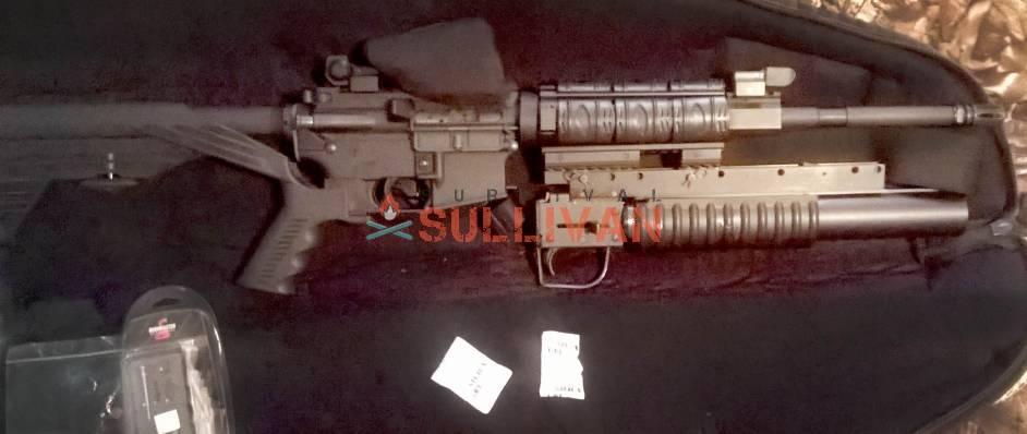 Silica packs in gun case