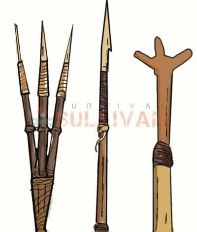 primitive spear tips