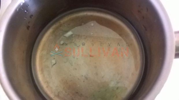 melting wax to waterproof
