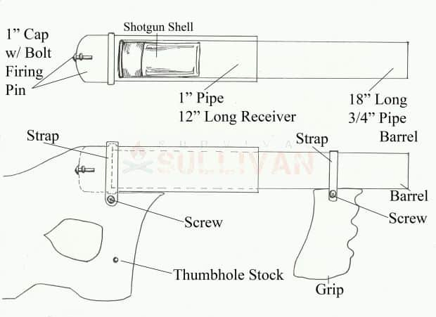 pipe gun drawing