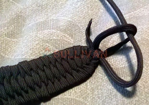 step 8 tie off vertical cord