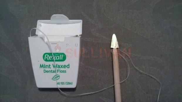 bolt point and dental floss
