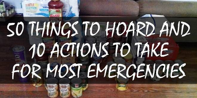 50 items to hoard 10 actions to take logo