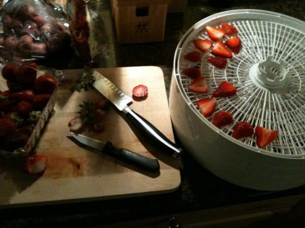 dehydrating strawberries