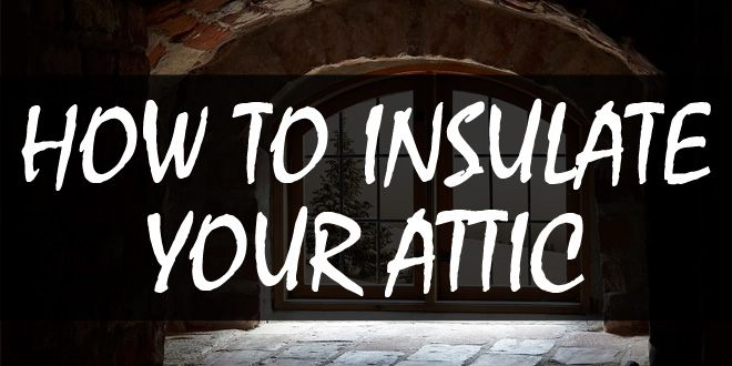 how to insulate your attic logo