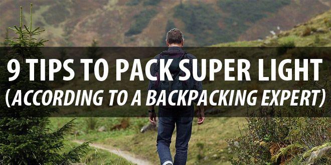 tips to pack light