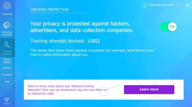 Privacy protection with Freedome VPN