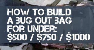 build a bug out bag budget