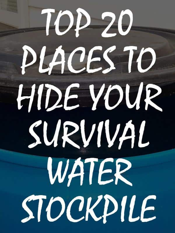 places to hide water stockpile pinterest