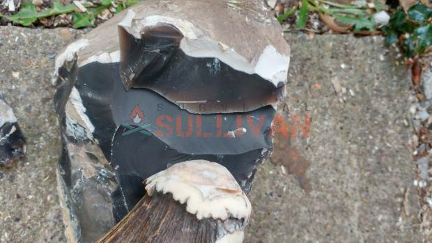 antler soft hammer and flint