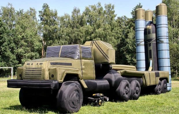 inflatable truck and missile system