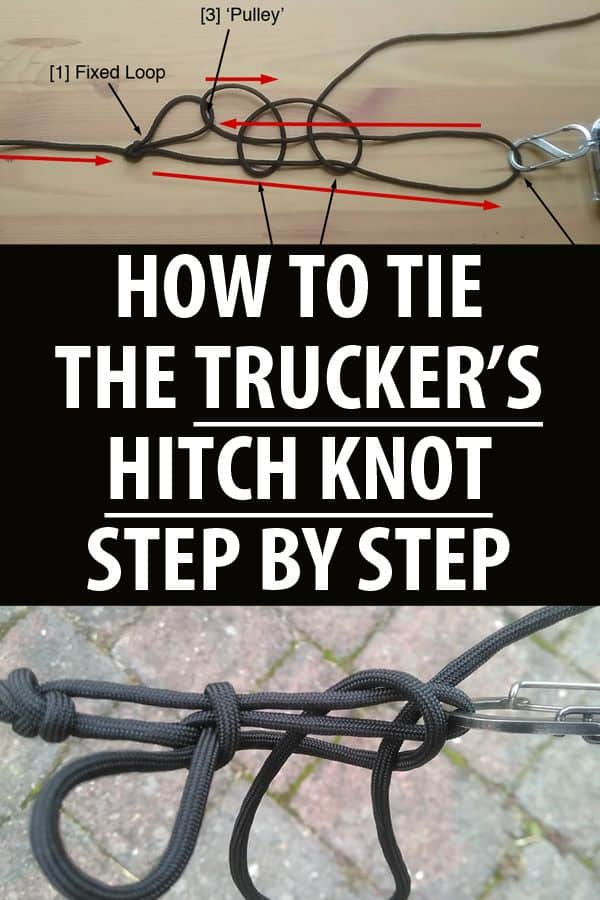 truckers hitch knot pinterest