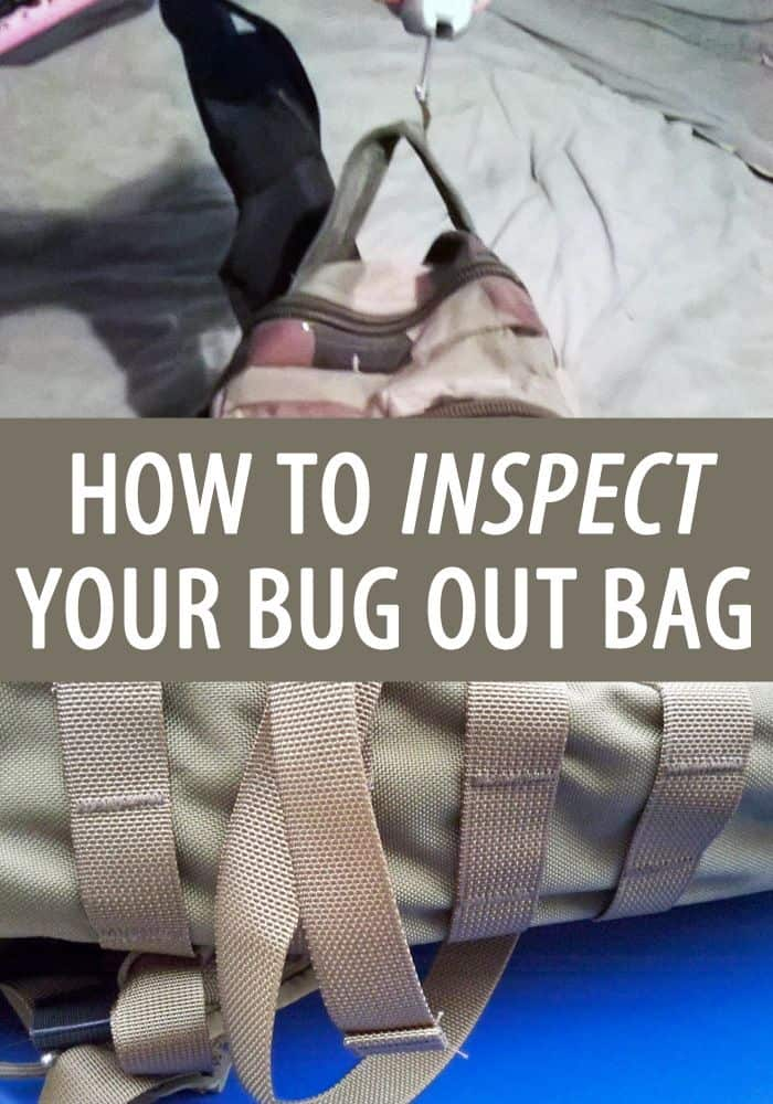 inspect bug out bag pinterest
