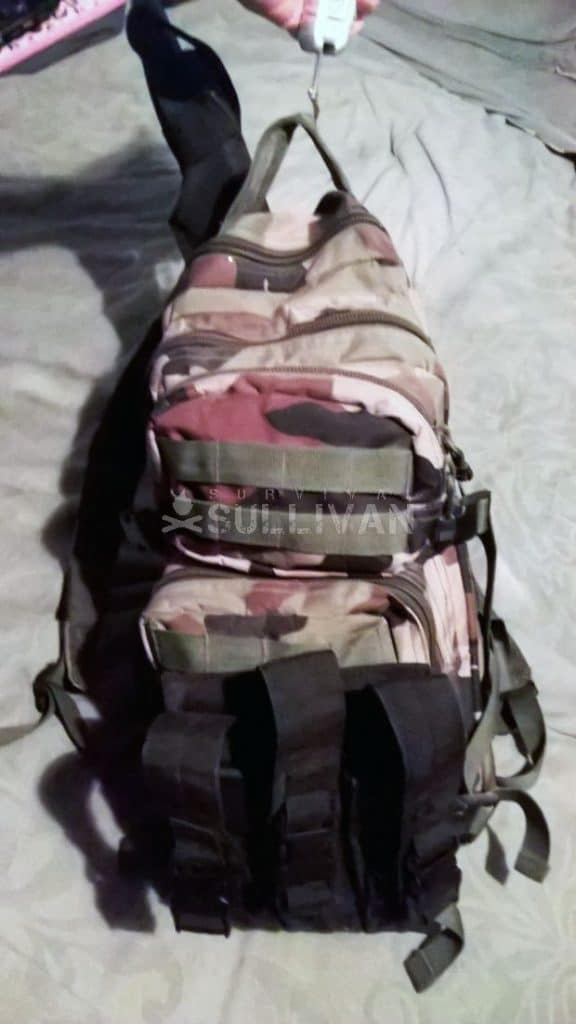 weighing a bug out bag