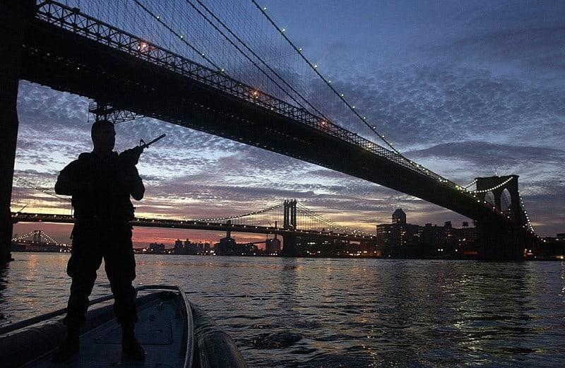 bridge with military guard