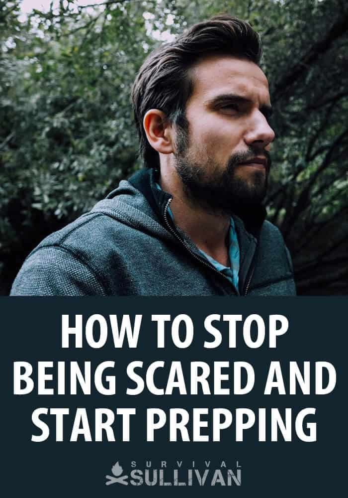 stop being scared start prepping pinterest image