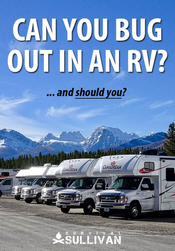 bugging out in an rv pinterest image