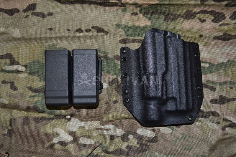 kydex holster and carrier, Raven Concealment Phantom and Blackhawk Double Mag Carrier