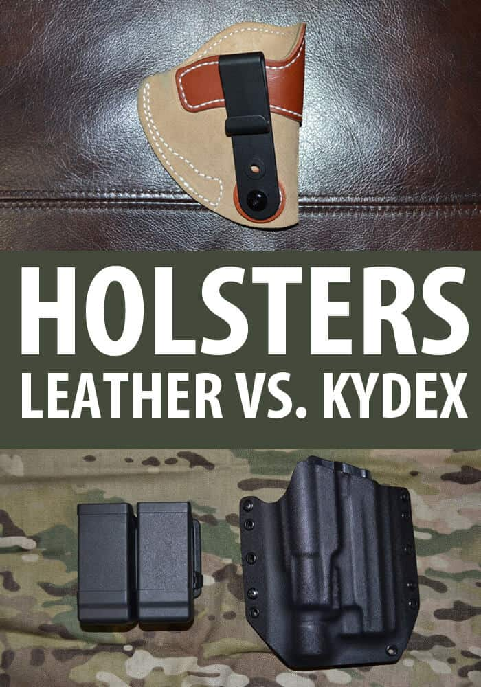 leather vs kydex holsters pinterest image
