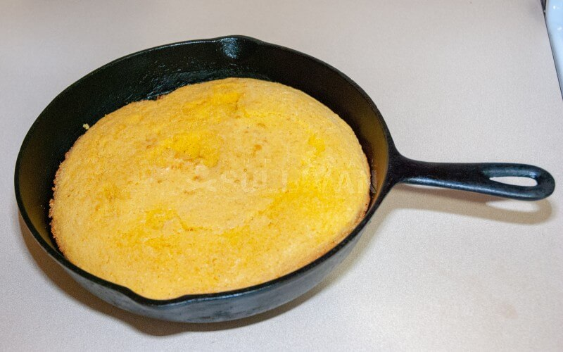Cornbread after baking