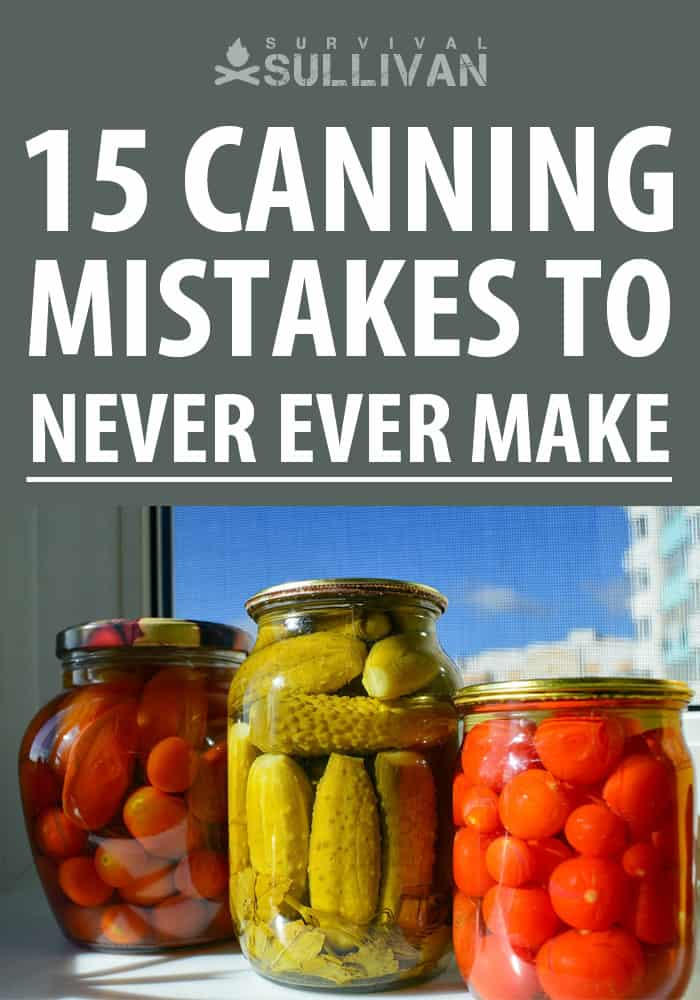 canning mistakes pinterest