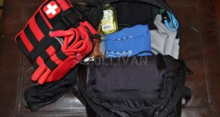 go-bag with contents