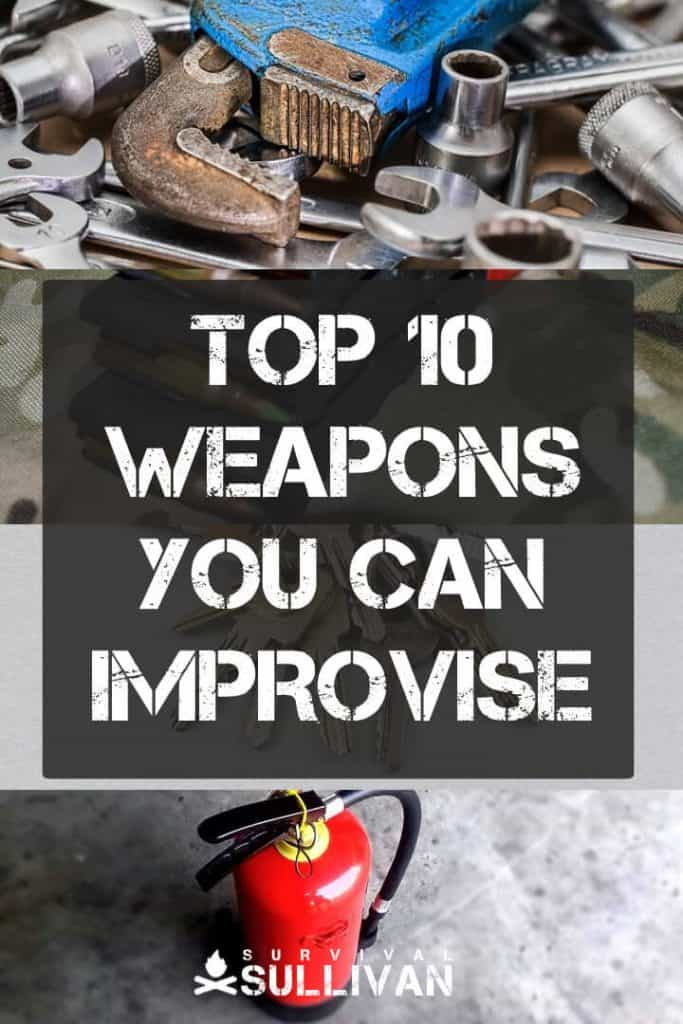 improvised weapons pintrest