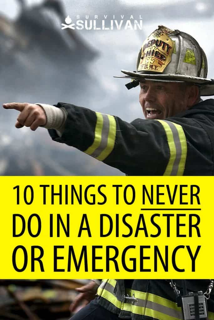 what not to do in emergencies pinterest image