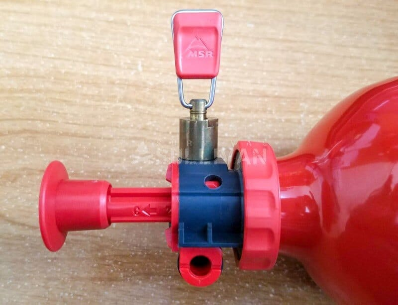 Closeup of fuel control valve