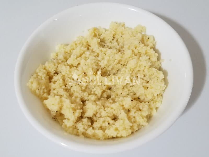Couscous Primavera cooked in freezer bag