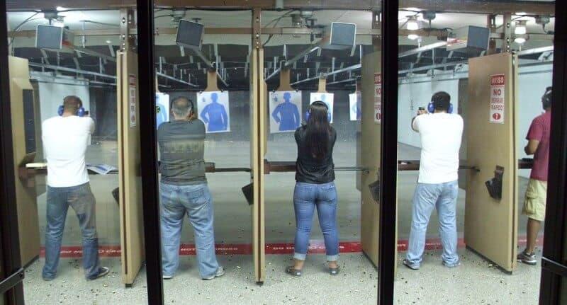 folks at shooting range