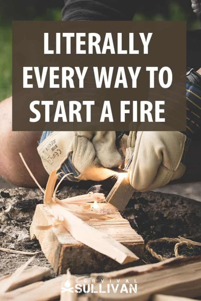 start a fire pinterest