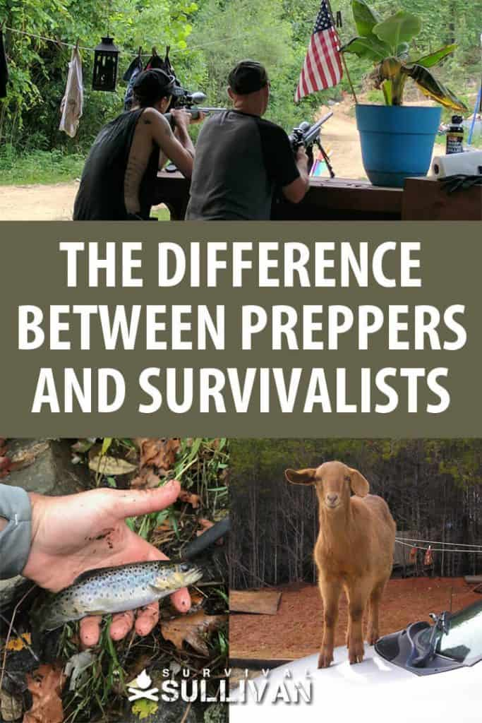preppers vs survivalists pinterest image