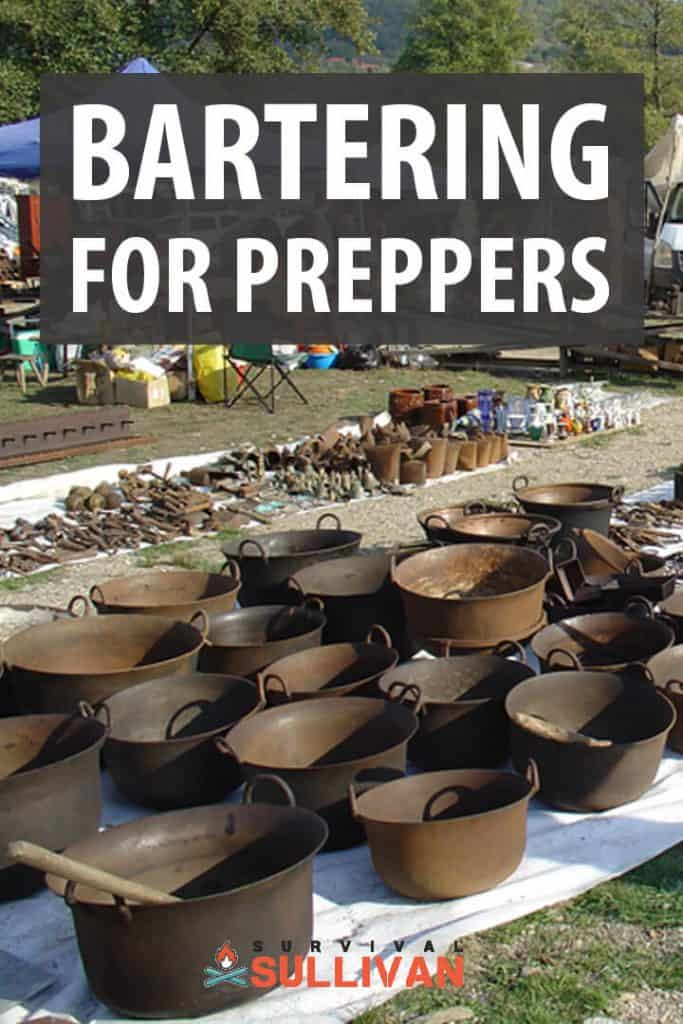bartering for preppers pinterest image