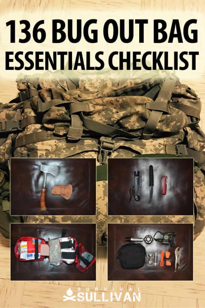 bug out bag checklist pinterest