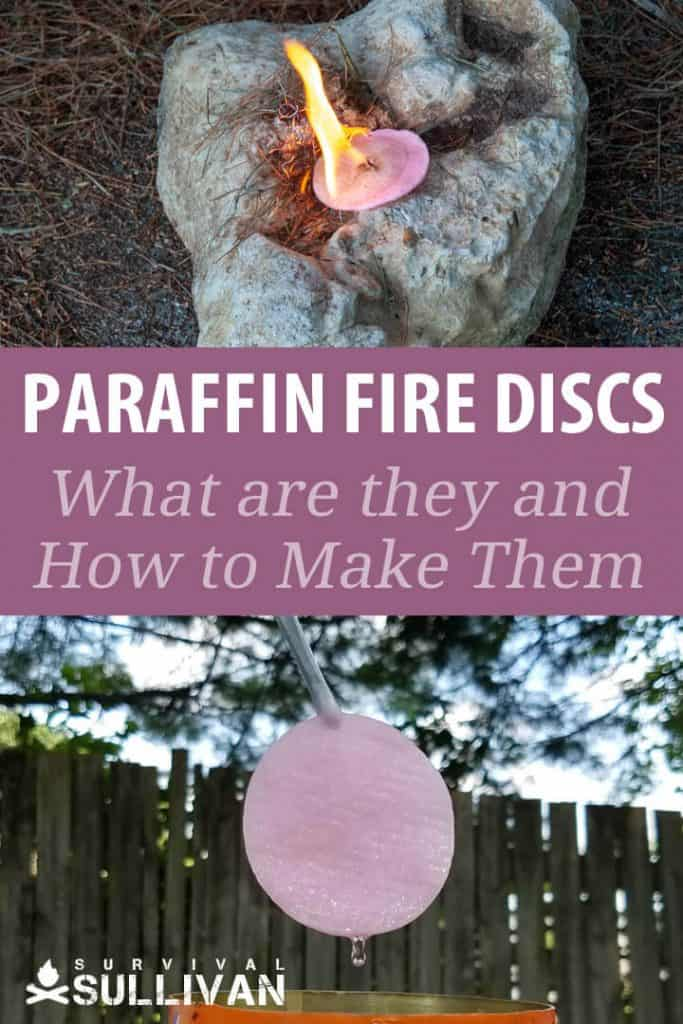 paraffin fire discs Pinterest image