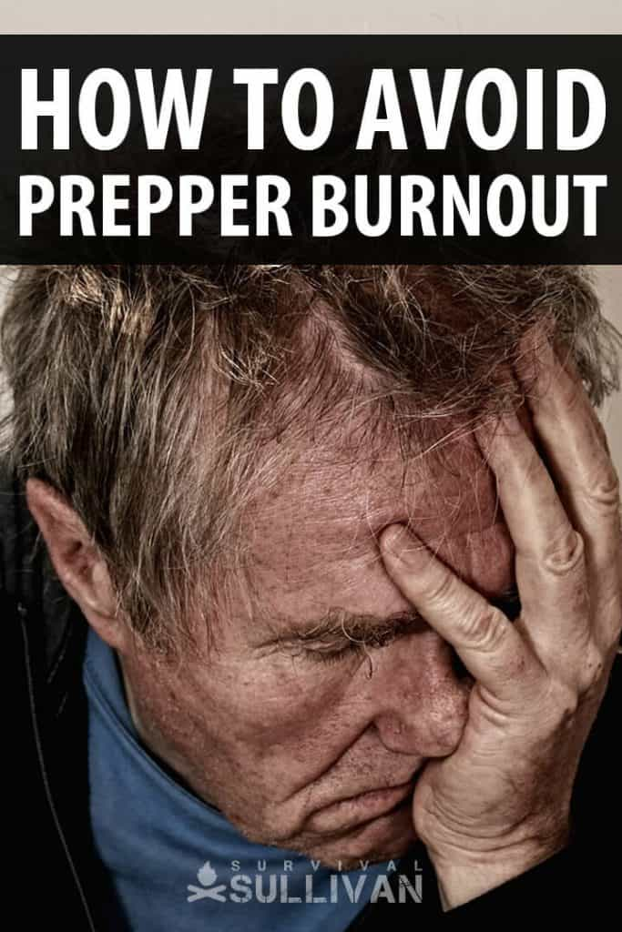 prepper burnout pinterest image