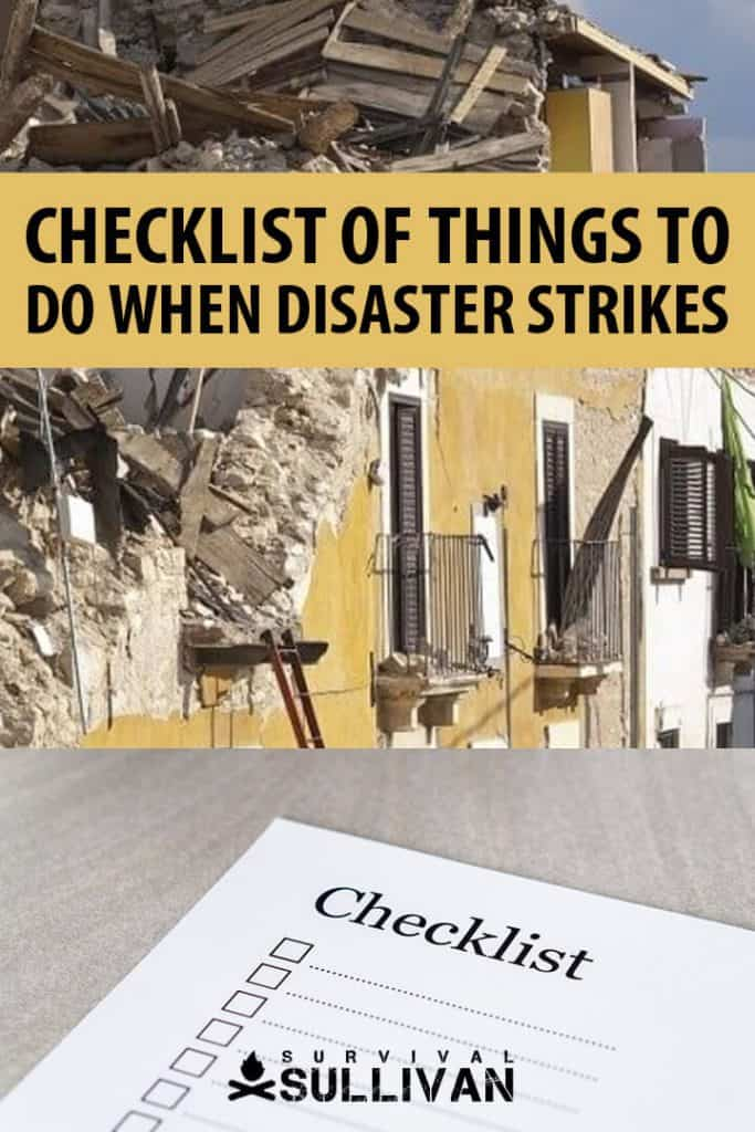 disaster checklist Pinterest image