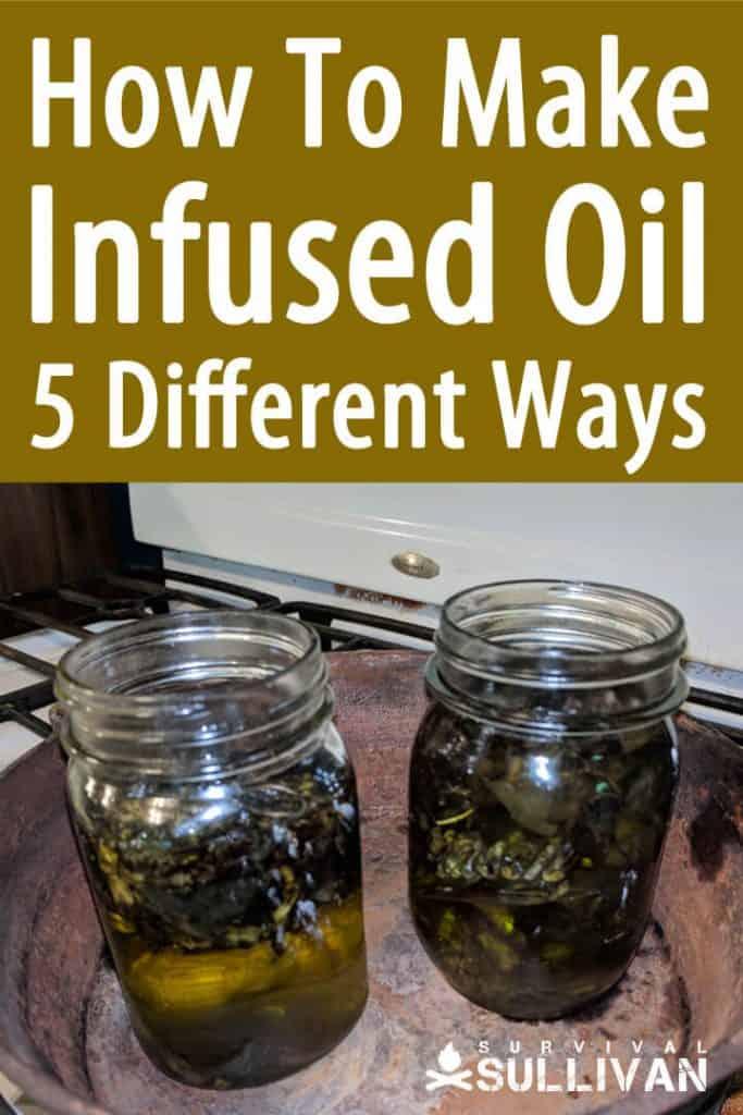 herbal infused oils pinterest image