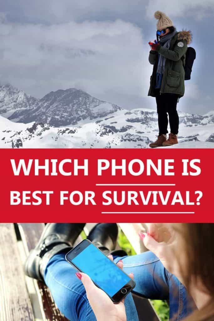 best survival phone Pinterest image