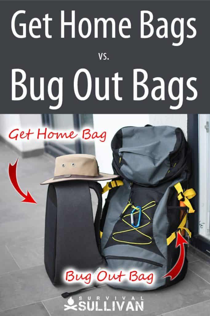 get home bag vs. bug out bag pinterest