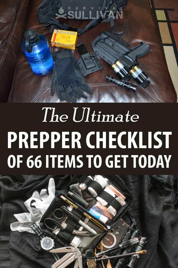 prepper checklist Pinterest image