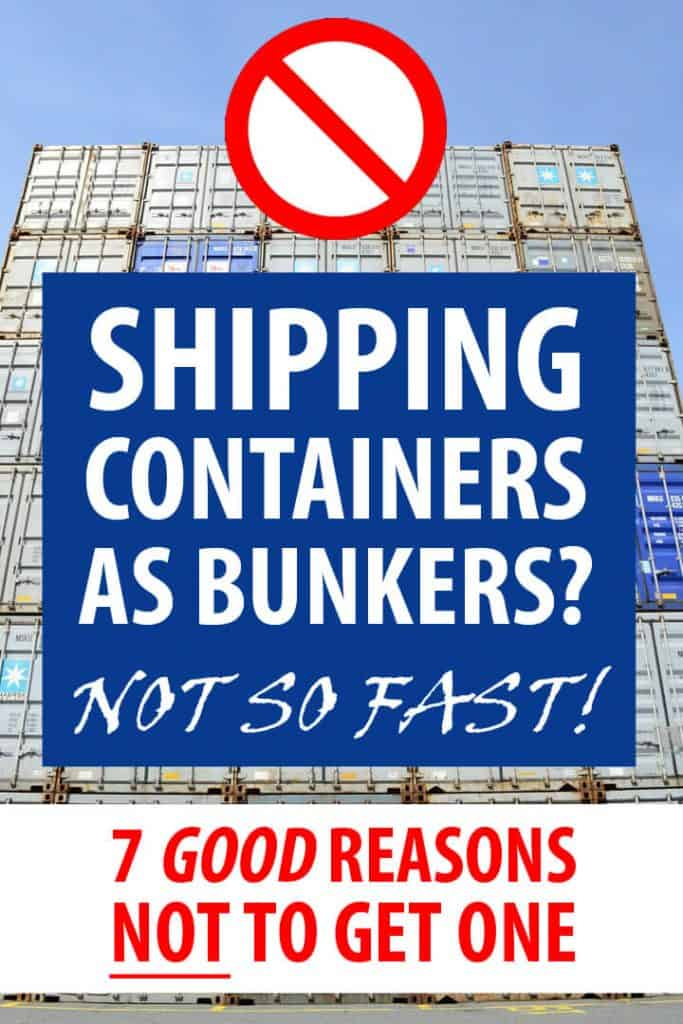 shipping containers as bunkers Pinterest image