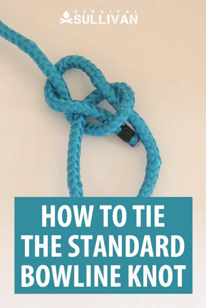 standard bowline knot Pinterest image