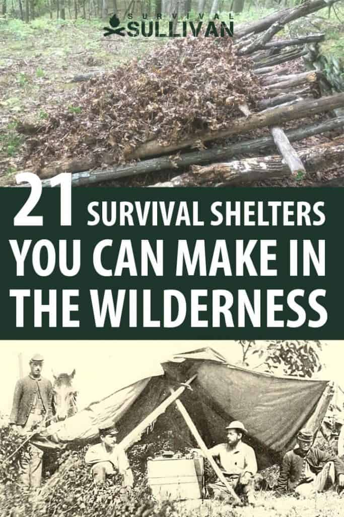 survival shelters pinterest image