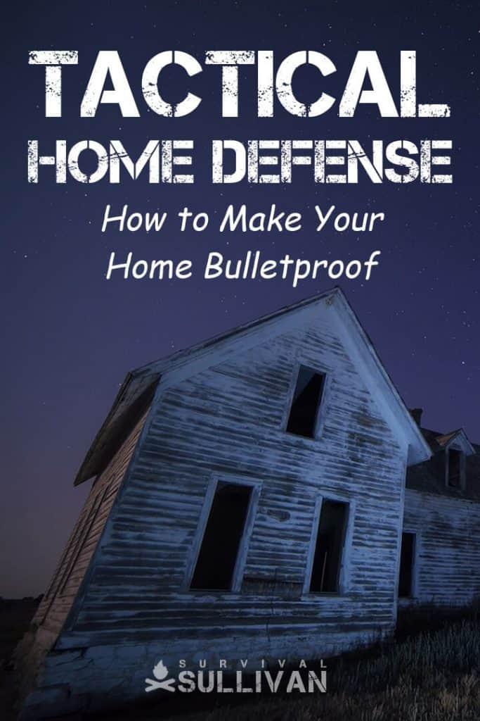 tactical home defense Pinterest image
