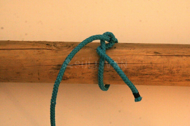 timber hitch knot step 5