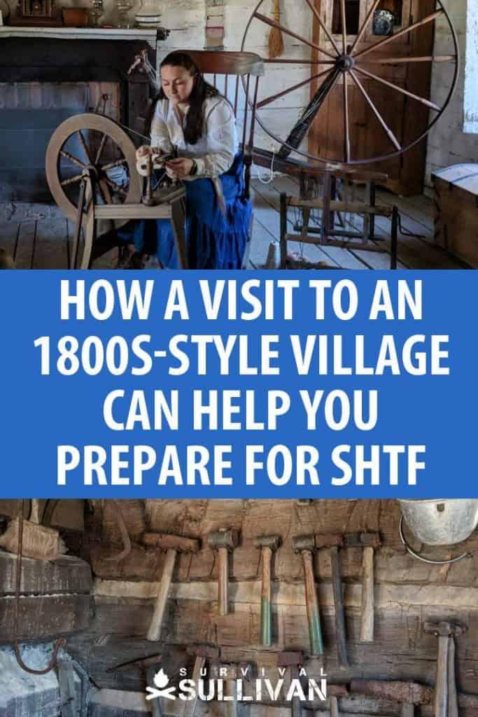1800s style village Pinterest image