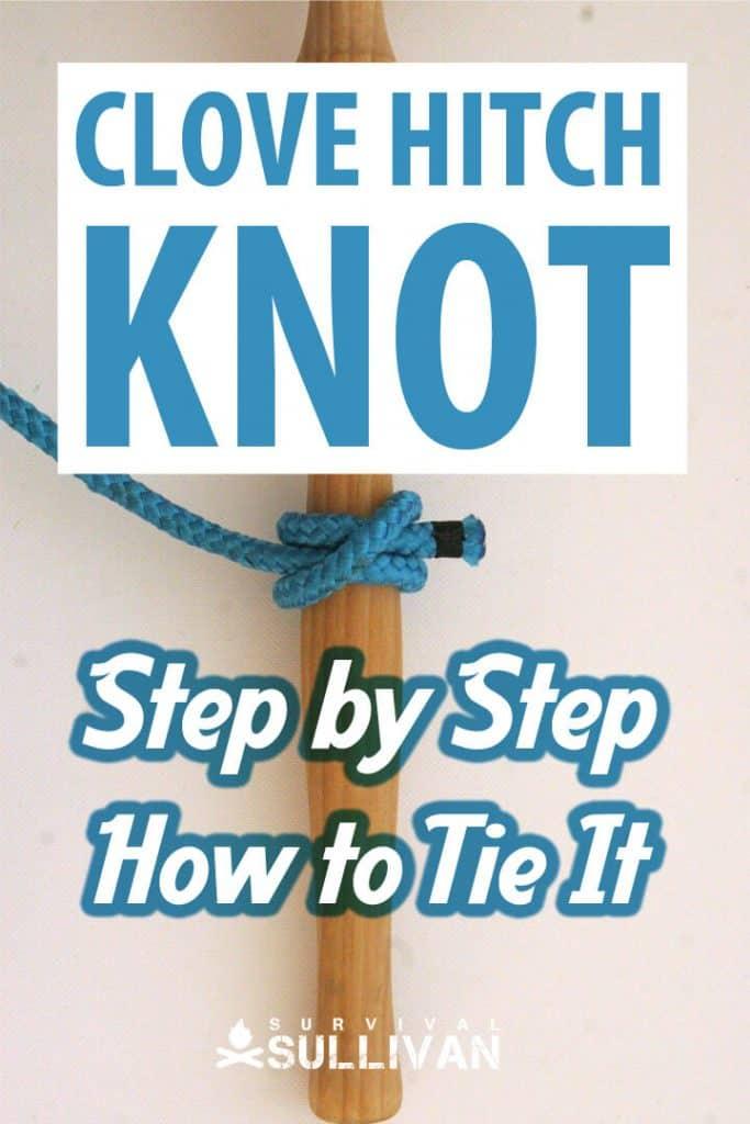 clove hitch knot Pinterest image