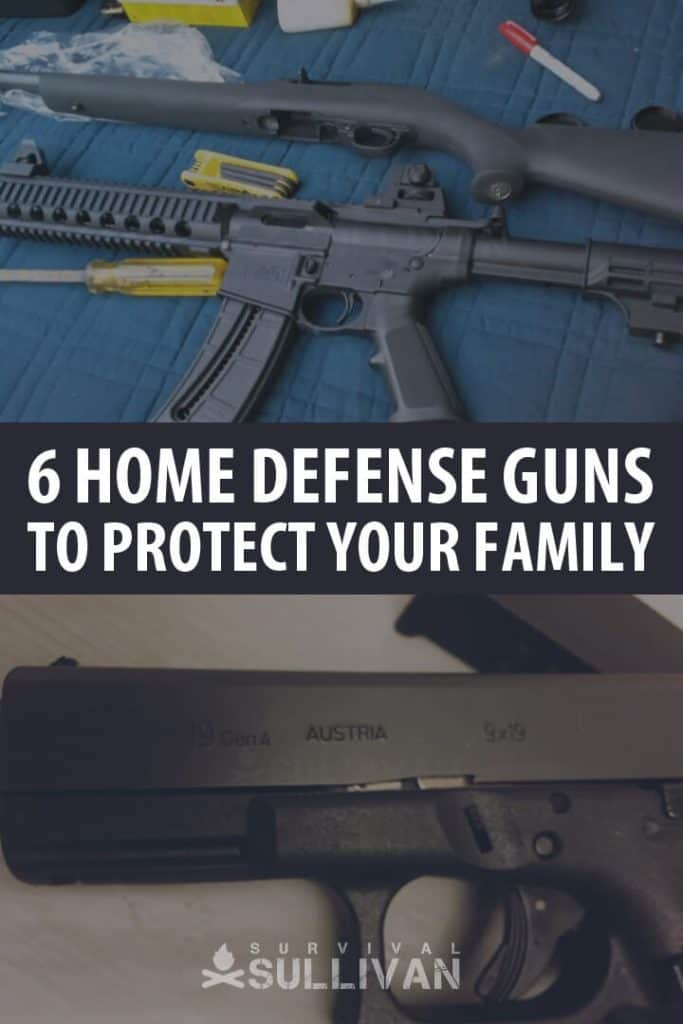home defense guns Pinterest image
